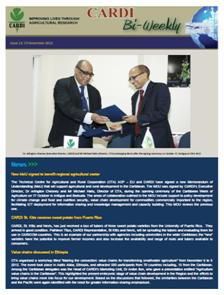 CARDI Bi-Weekly Issue 13, 15 November 2012