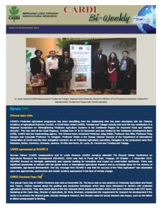 CARDI Bi-Weekly, Issue 14, 30 November 2012