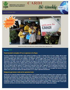 CARDI Bi-weekly Issue 12: 30 October 2012