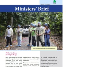 CARDI Ministers' Brief: issue 05, October 2016