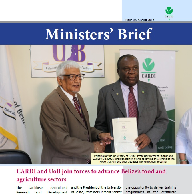 CARDI Ministers' Brief, August 2017