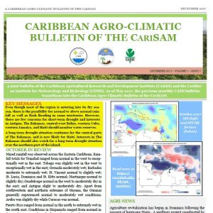 Caribbean Agro-climatic Bulletin of the CariSAM, December 2017