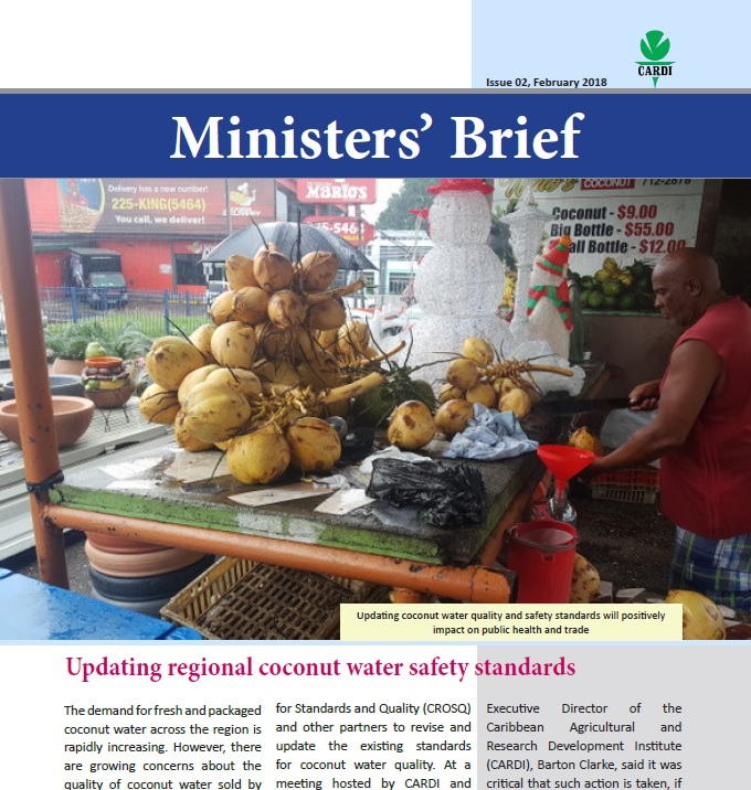 CARDI Ministers' Brief, February 2018