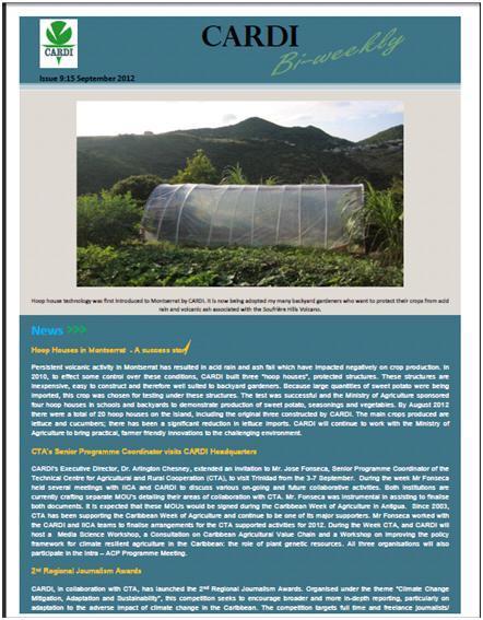CARDI Bi-Weekly, issue 9